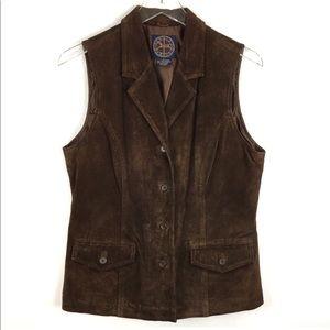 Western Boho Leather Suede Vest Harold's SZ Large